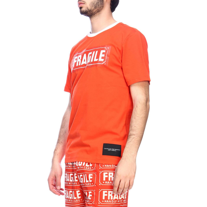 T-shirt men Calvin Klein Performance orange 2
