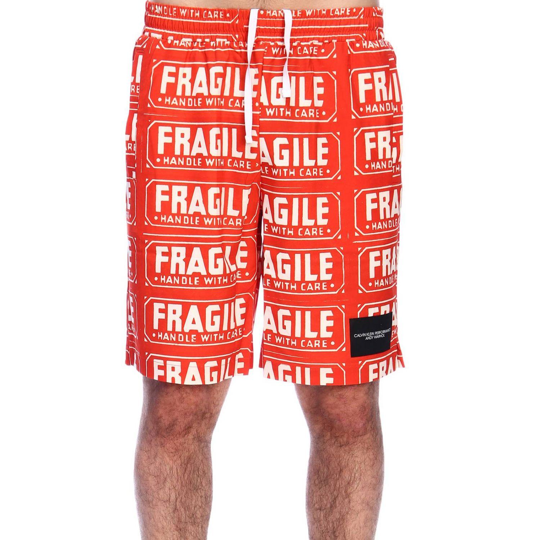 Pants men Calvin Klein Performance orange 1