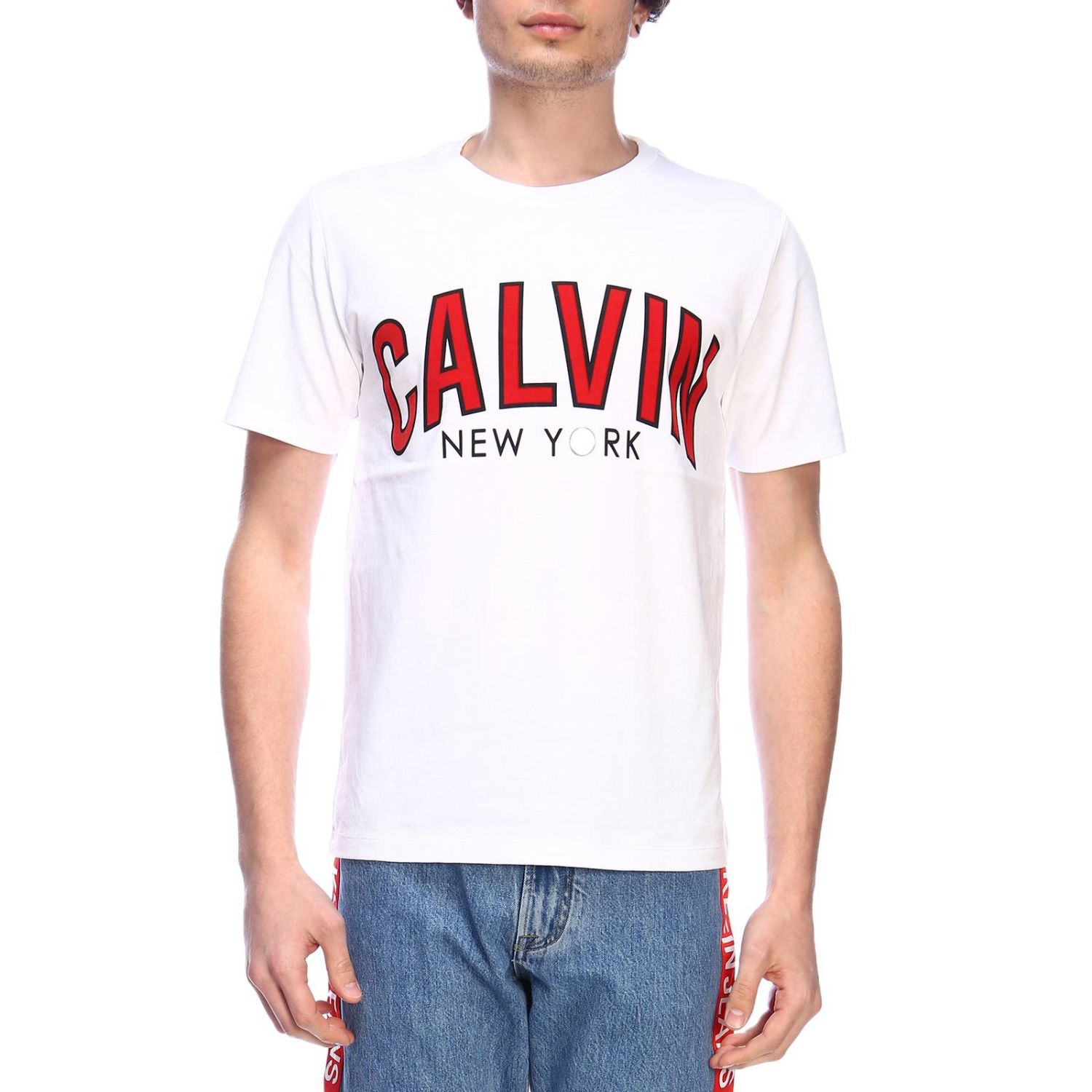 T-shirt men Calvin Klein Jeans white 1