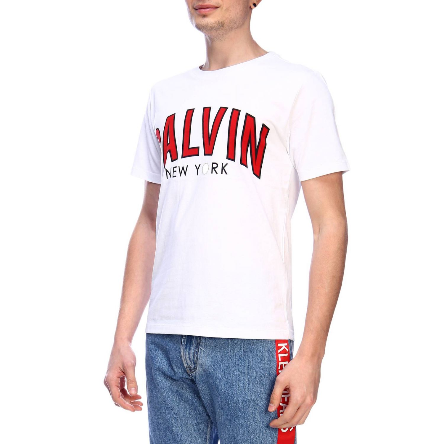 T-shirt men Calvin Klein Jeans white 2