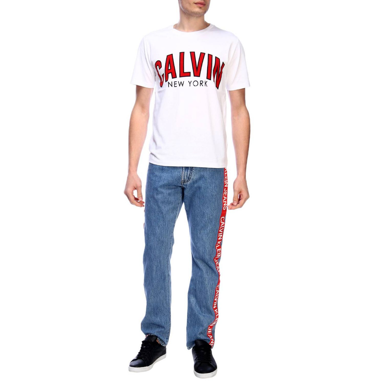 T-shirt men Calvin Klein Jeans white 4