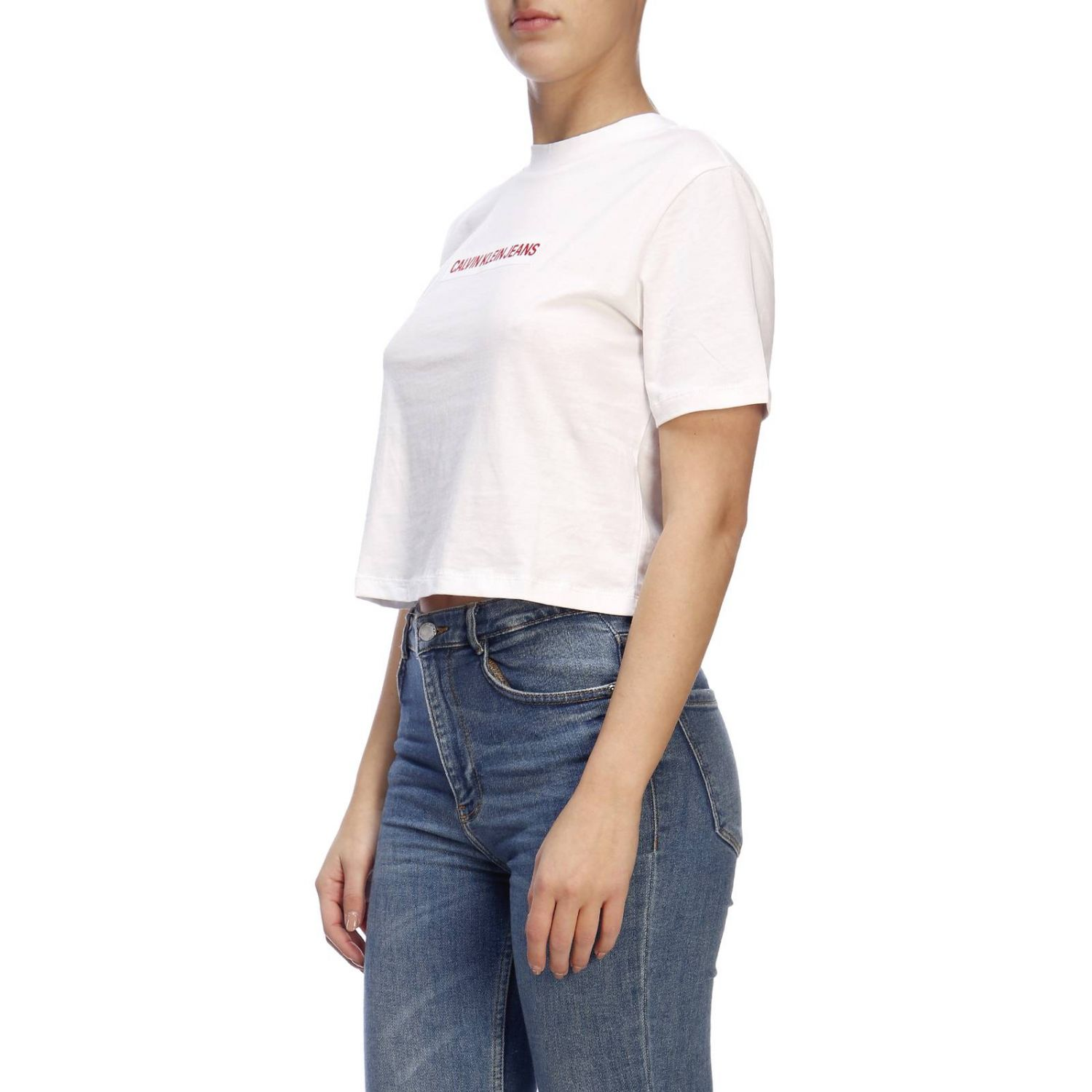 T-shirt con maxi stampa by Calvin Klein Jeans bianco 2