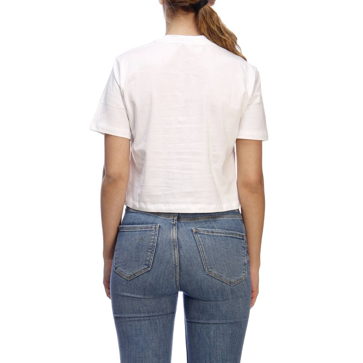 T-shirt con maxi stampa by Calvin Klein Jeans bianco 3