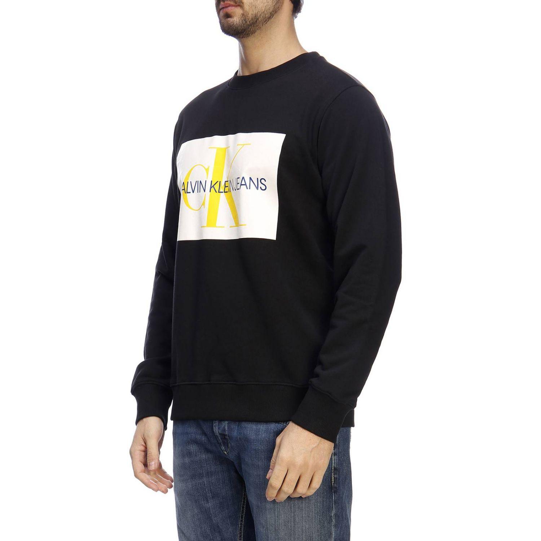 Felpa a maniche lunghe con stampa by Calvin Klein Jeans nero 2