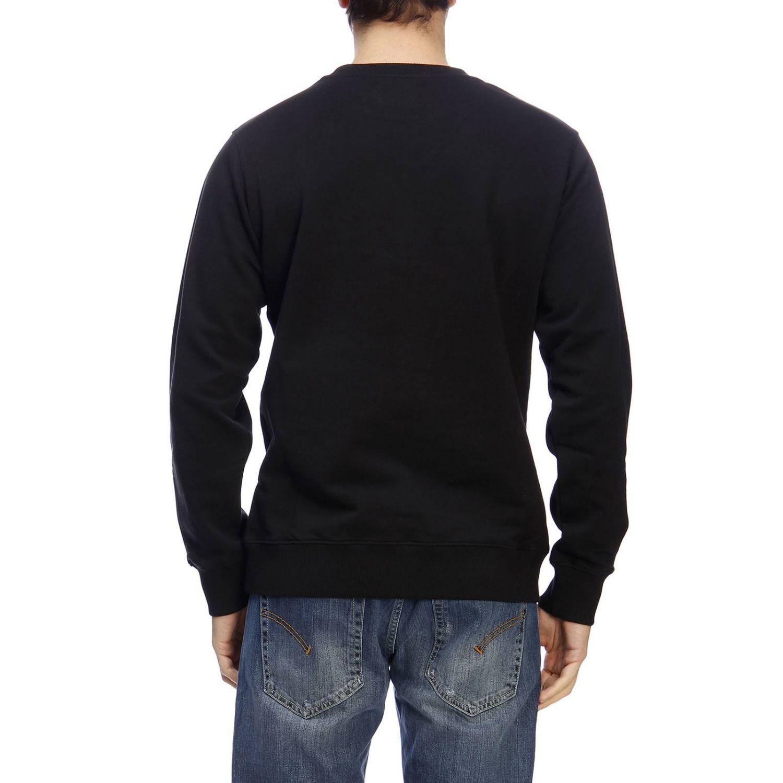 Felpa a maniche lunghe con stampa by Calvin Klein Jeans nero 3