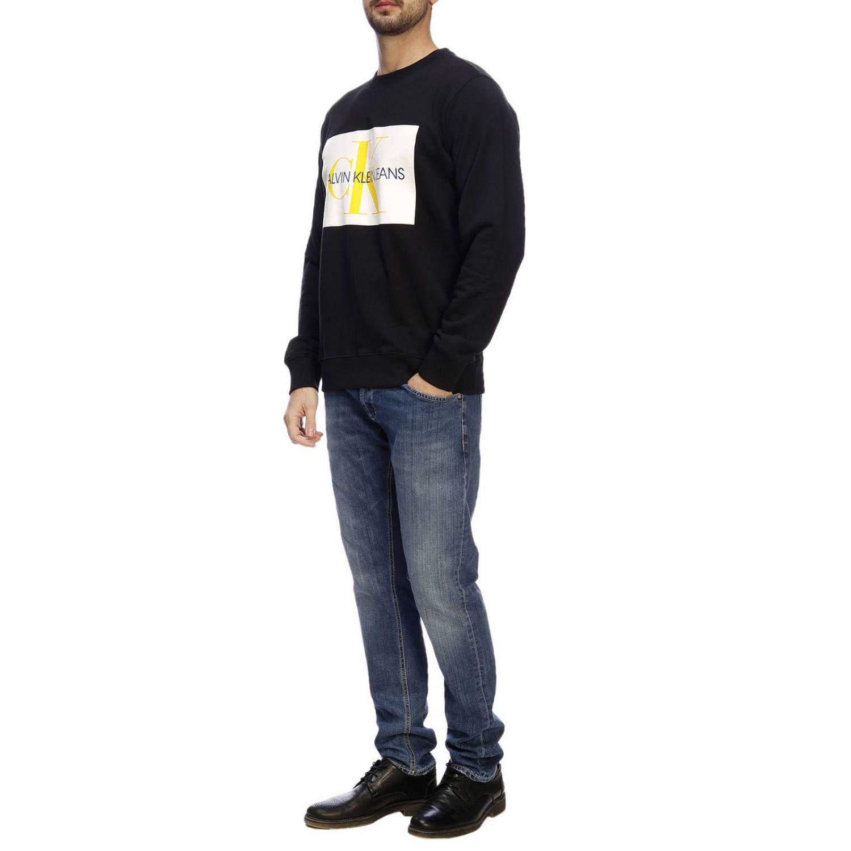 Felpa a maniche lunghe con stampa by Calvin Klein Jeans nero 4