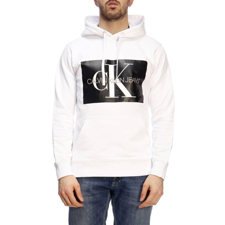 Pull homme Calvin Klein Jeans blanc 1