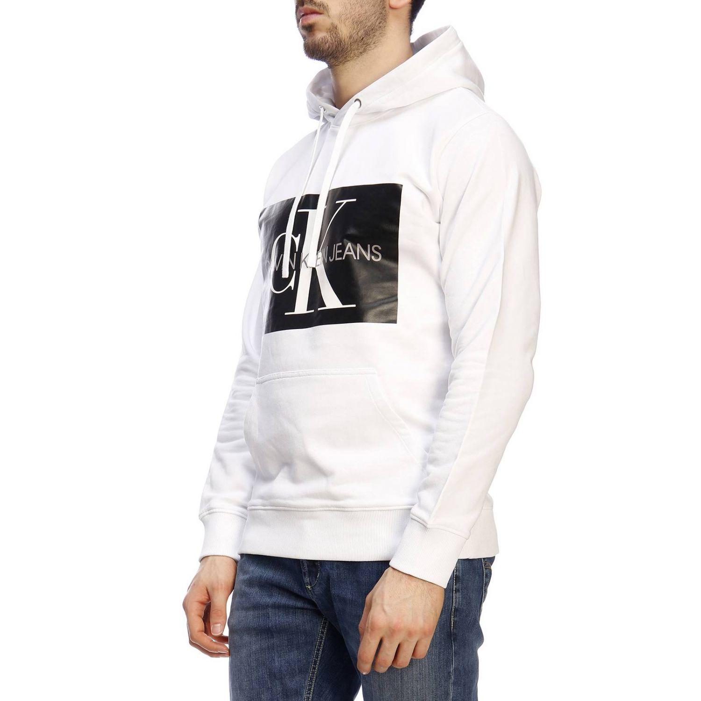 Pull homme Calvin Klein Jeans blanc 2
