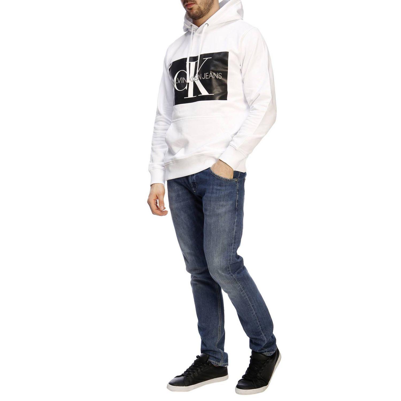 Pull homme Calvin Klein Jeans blanc 5