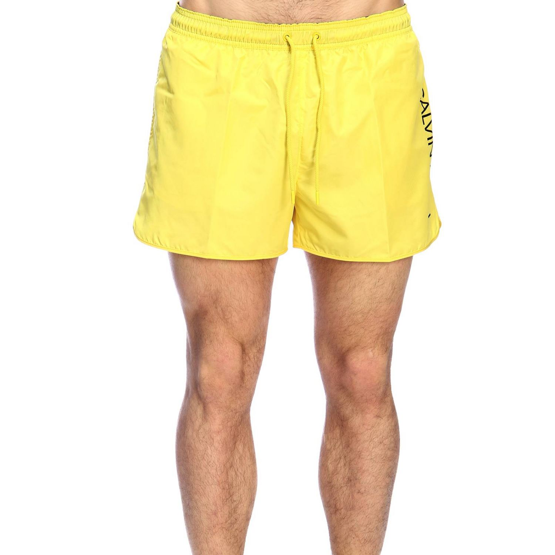 Maillot de bain homme Calvin Klein Swimwear jaune 1