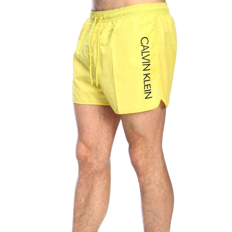 Maillot de bain homme Calvin Klein Swimwear jaune 2