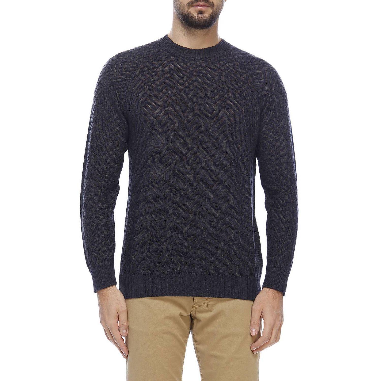 Sweater men Giorgio Armani blue 1