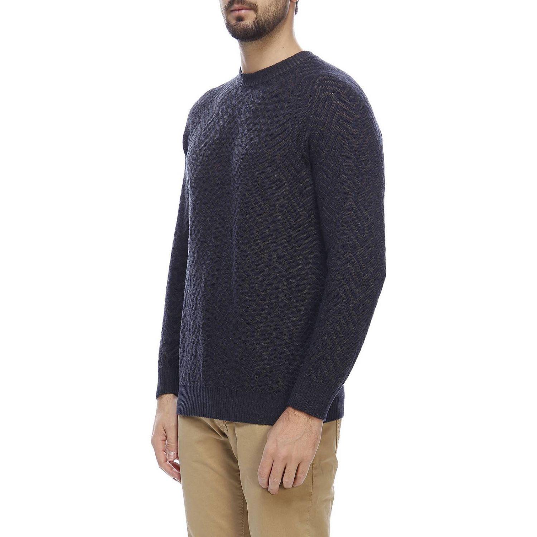 Sweater men Giorgio Armani blue 2
