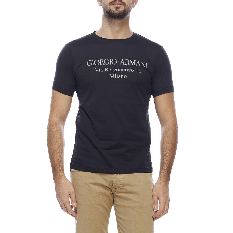 T-shirt Giorgio Armani: T-shirt homme Giorgio Armani bleu 1
