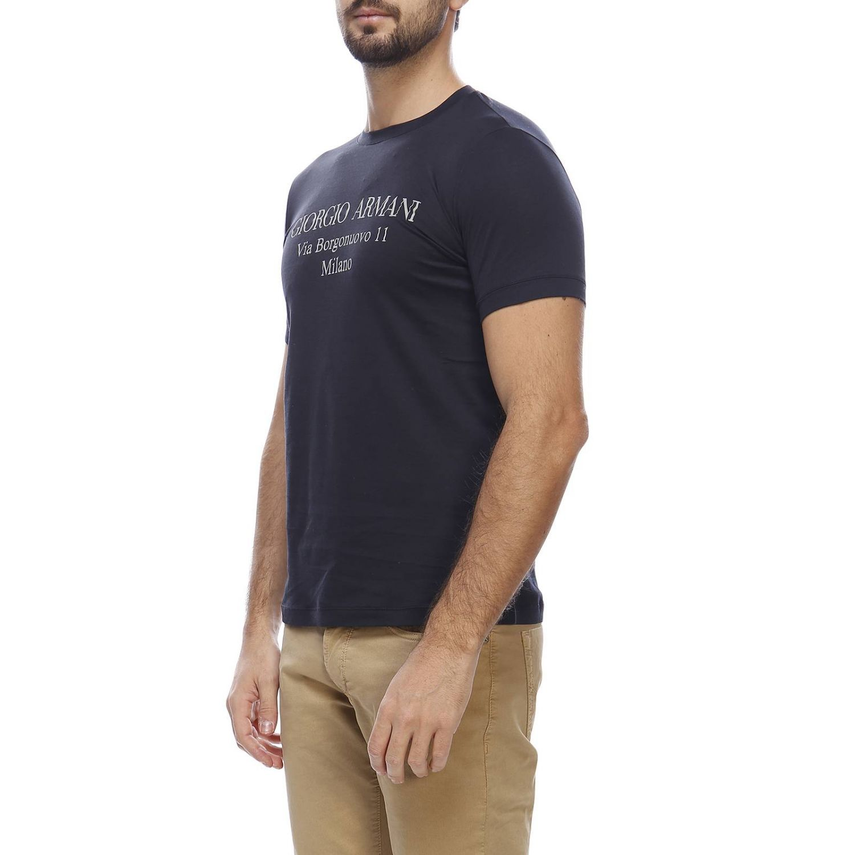 T-shirt Giorgio Armani: T-shirt homme Giorgio Armani bleu 2