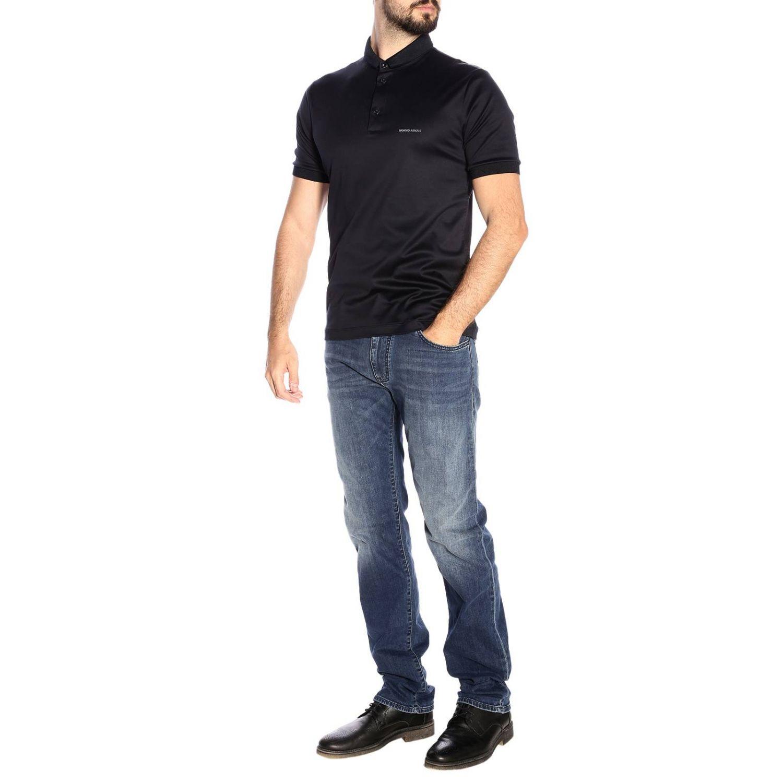 T-shirt men Giorgio Armani blue 4