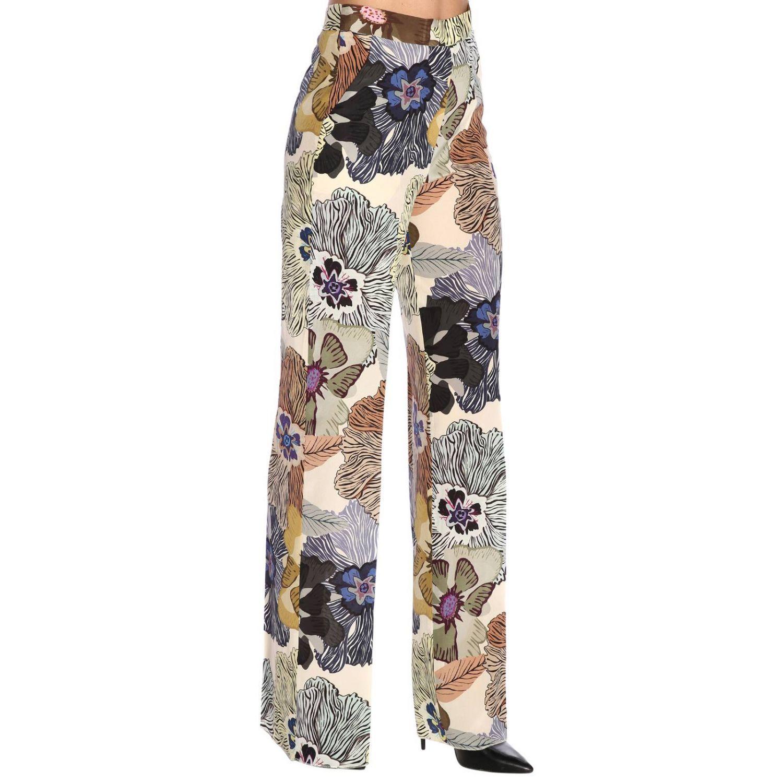 Pantalone ampio e fluido con fantasia floreale all over by Etro nero 2