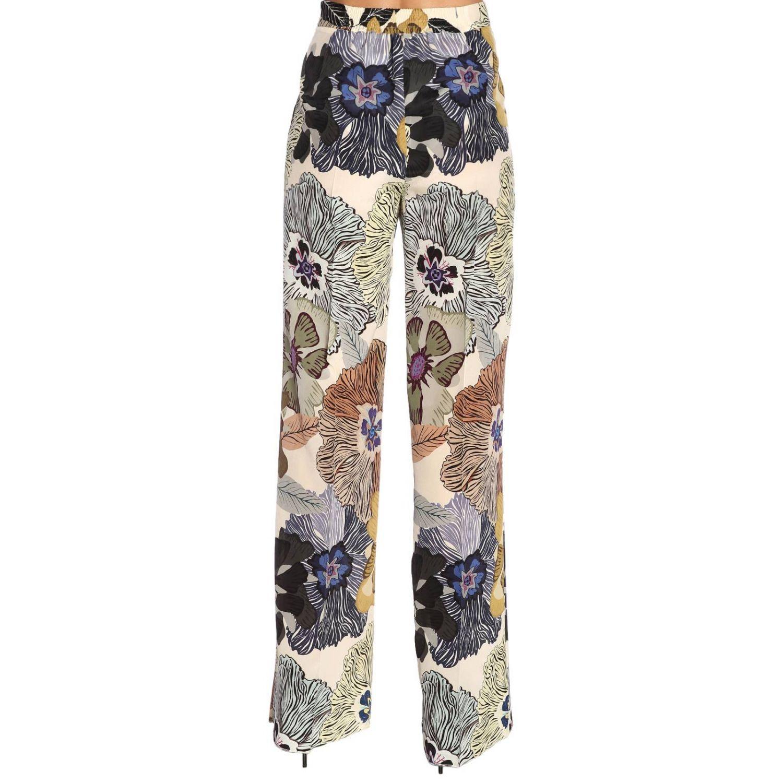 Pantalone ampio e fluido con fantasia floreale all over by Etro nero 3
