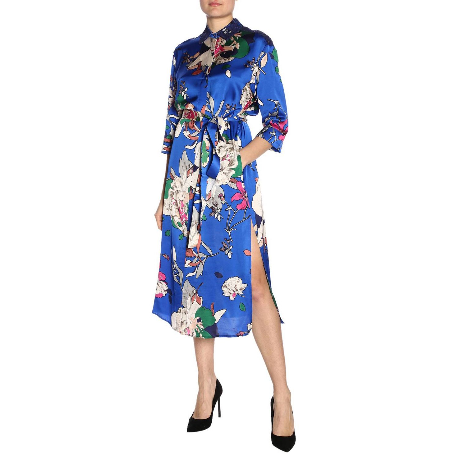 Dress women Twin Set gnawed blue 4