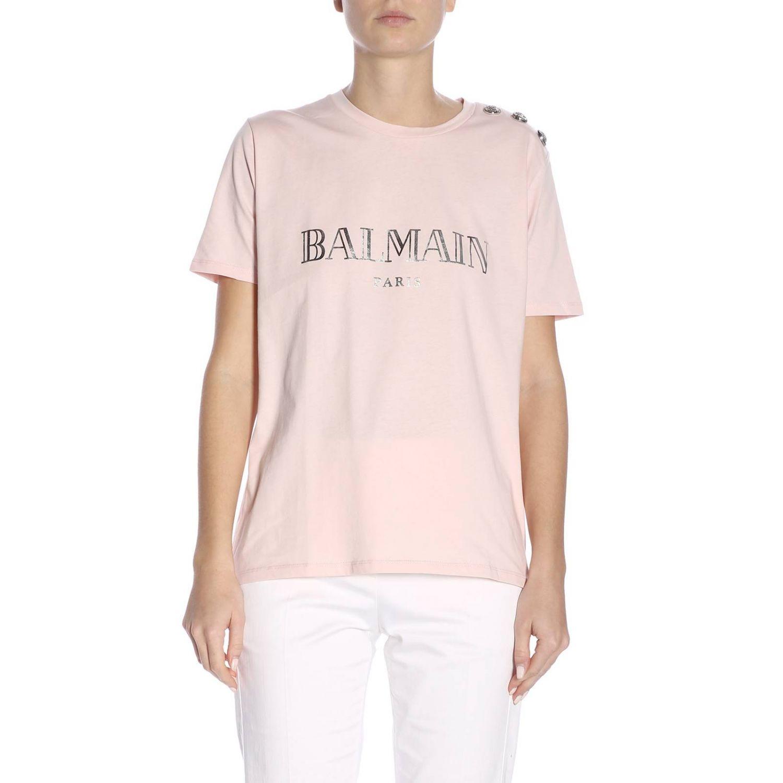 T-Shirt Balmain: T-shirt women Balmain pink 1