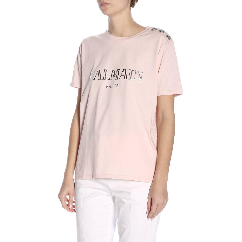 T-Shirt Balmain: T-shirt women Balmain pink 2