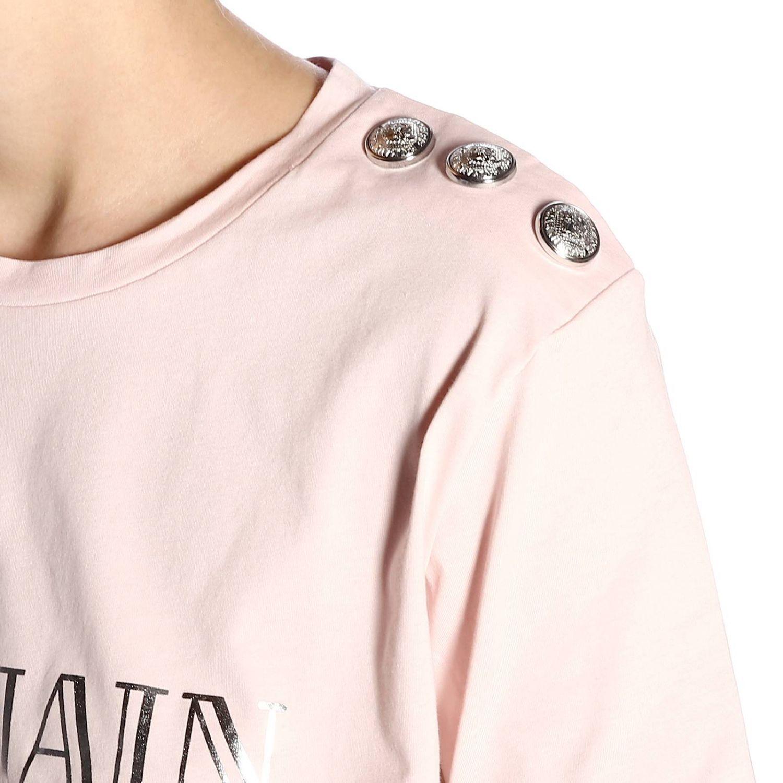 T-Shirt Balmain: T-shirt women Balmain pink 4