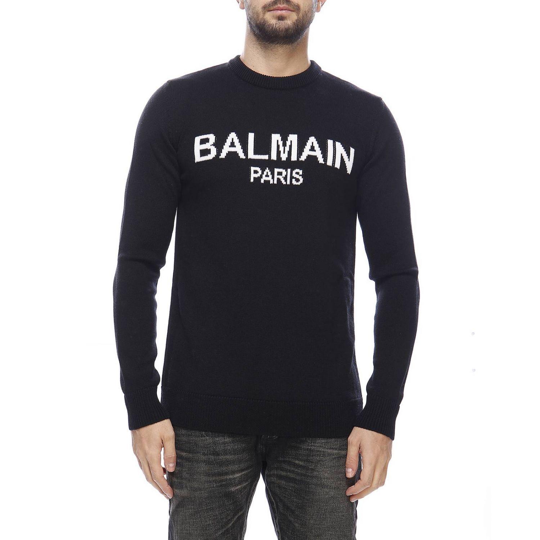 Sweater men Balmain black 1