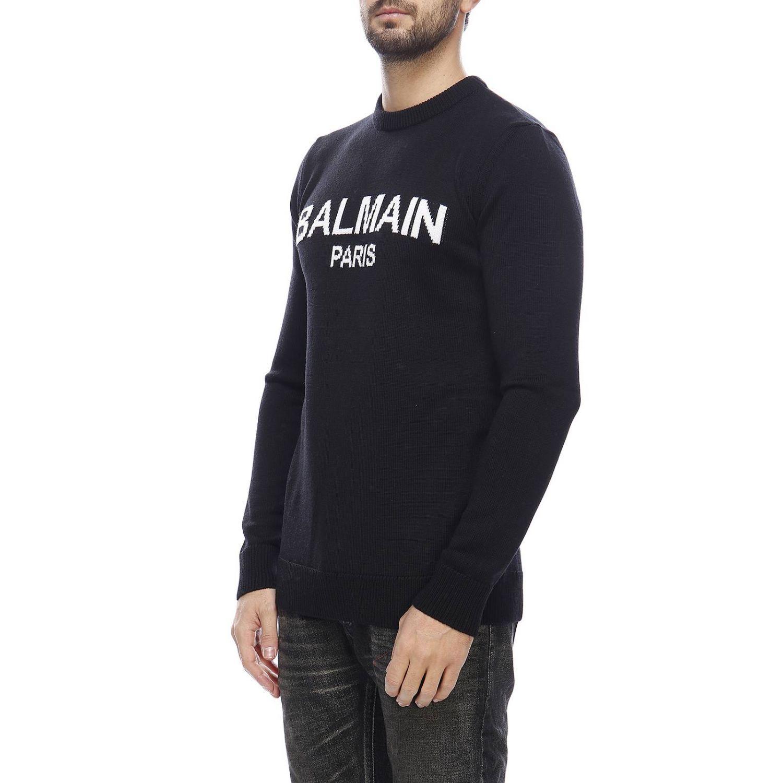 Sweater men Balmain black 2