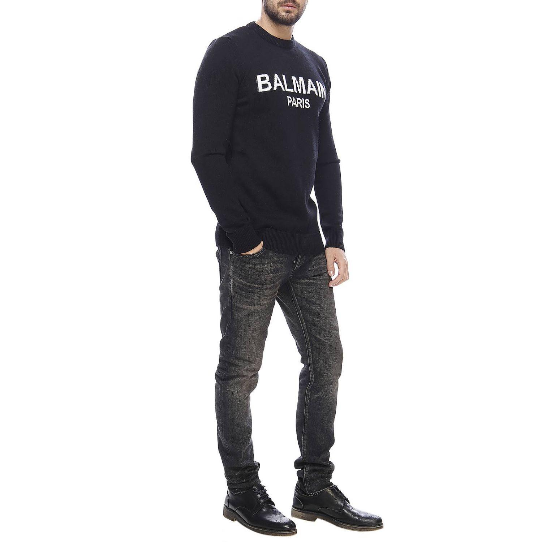 Свитер Мужское Balmain черный 4