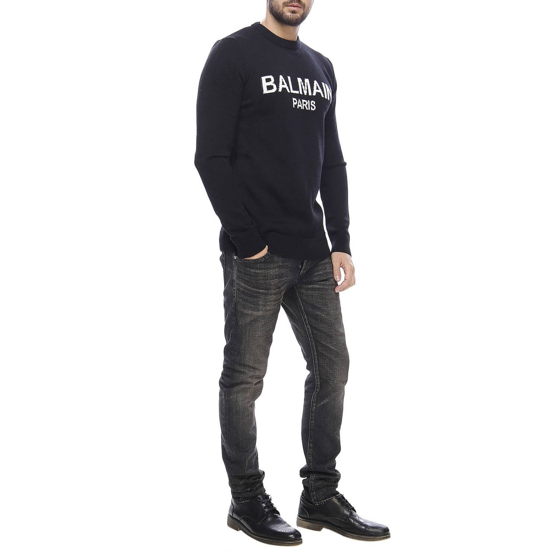 Sweater men Balmain black 4