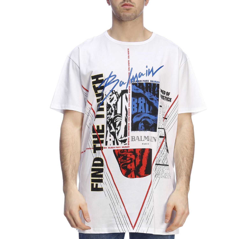 T恤 男士 Balmain 白色 1