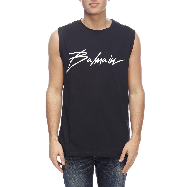 T-shirt men Balmain black 1
