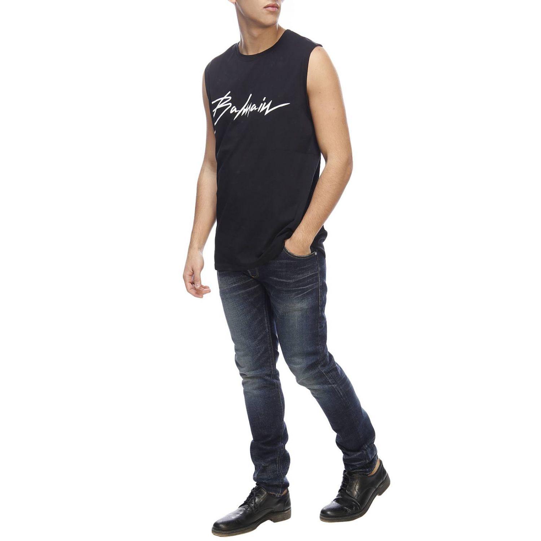 T-shirt men Balmain black 4