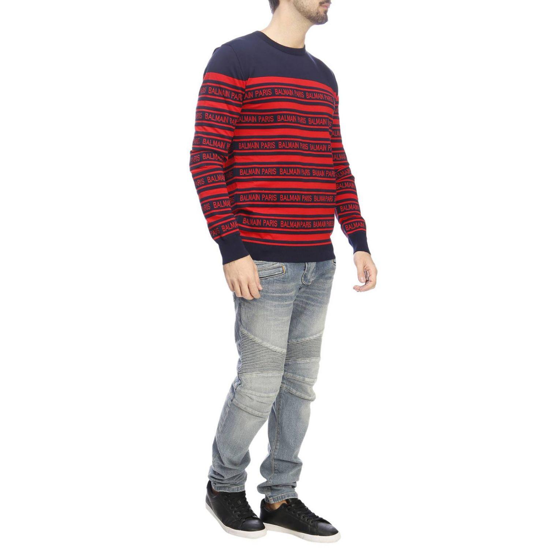 Pullover herren Balmain blau 4