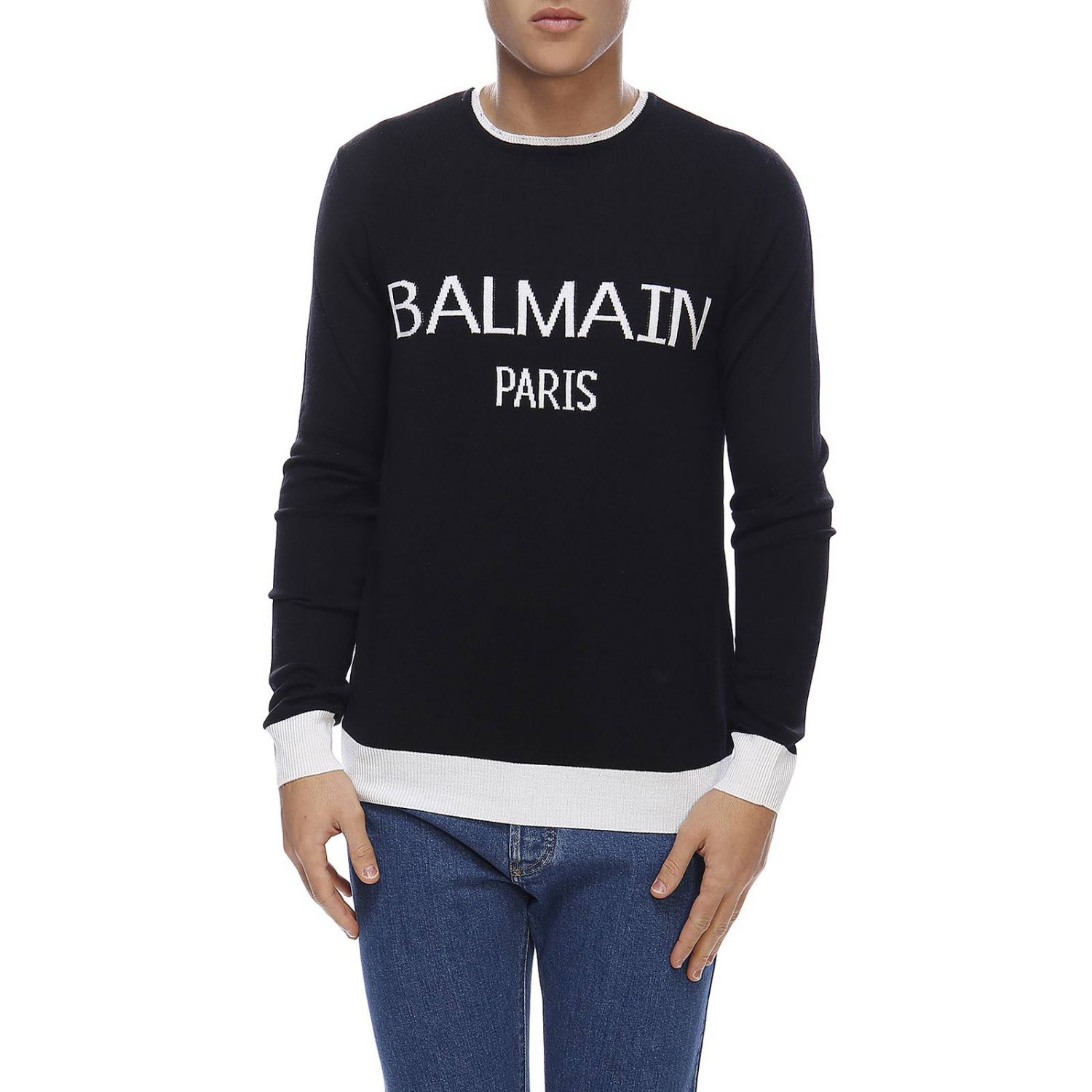 Sweater Balmain: Sweater men Balmain black 1