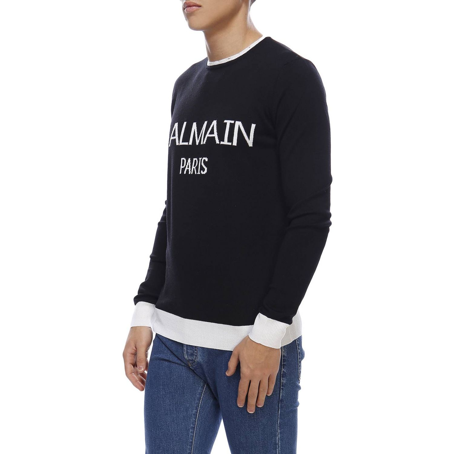 Sweater Balmain: Sweater men Balmain black 2