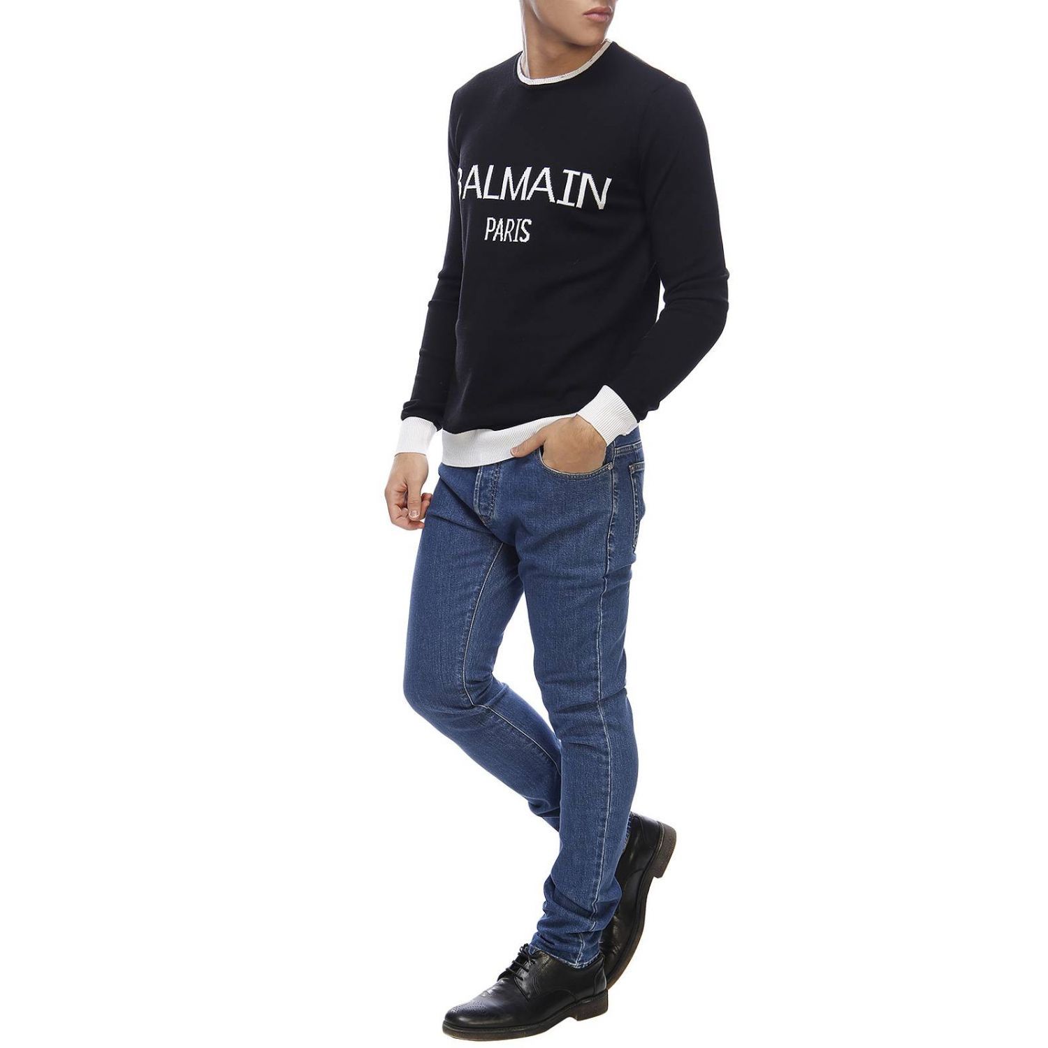 Sweater Balmain: Sweater men Balmain black 4