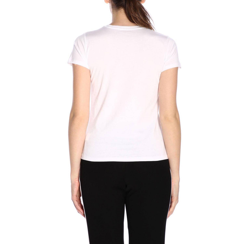 T-shirt a maniche corte con maxi scritta Cool di micro borchie bianco 3