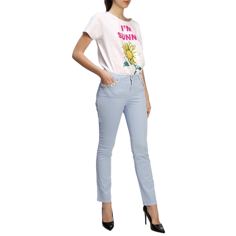 T-shirt damen Blugirl weiß 4