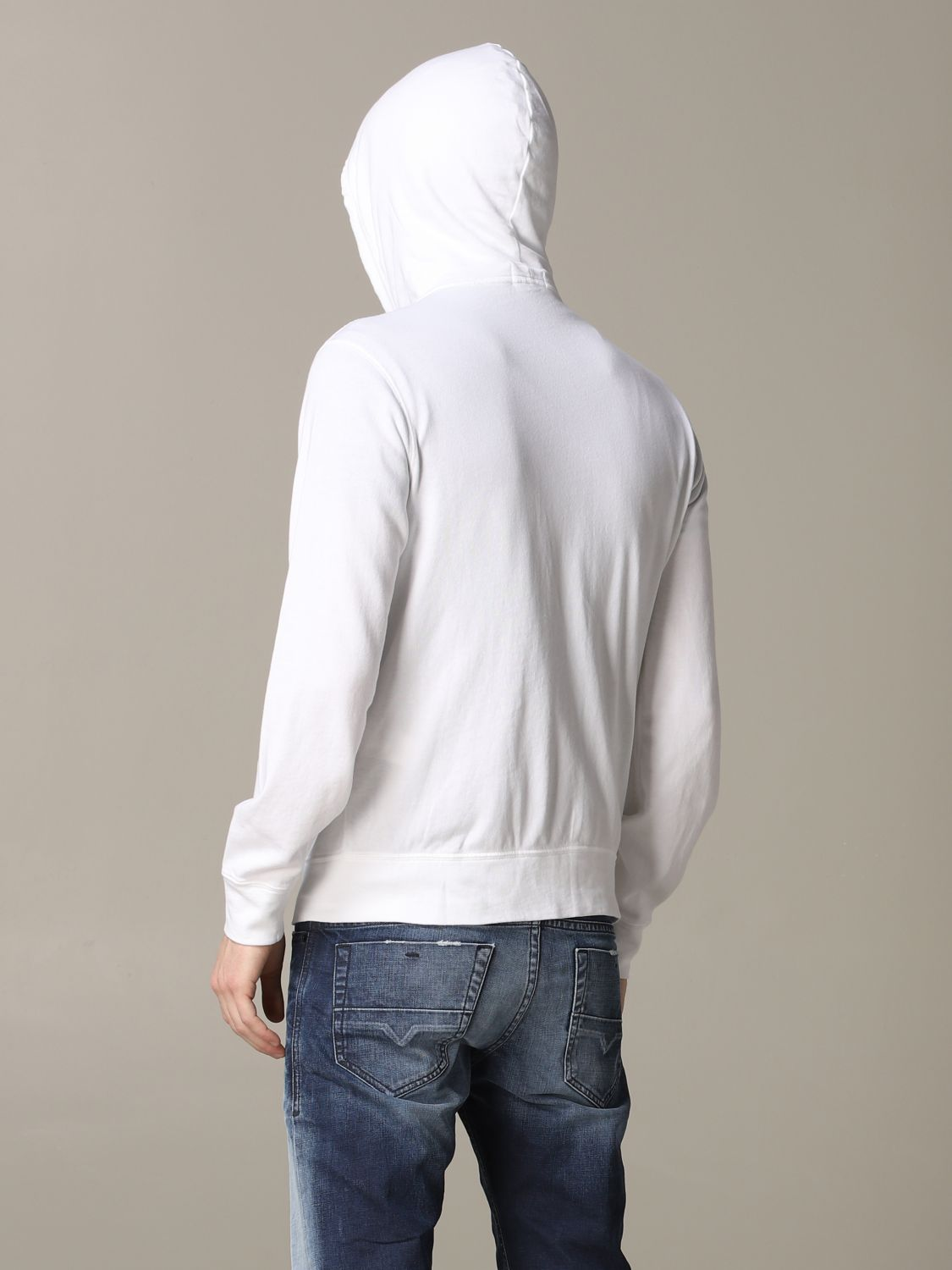 Polo Ralph Lauren sweatshirt with cotton hood white 3