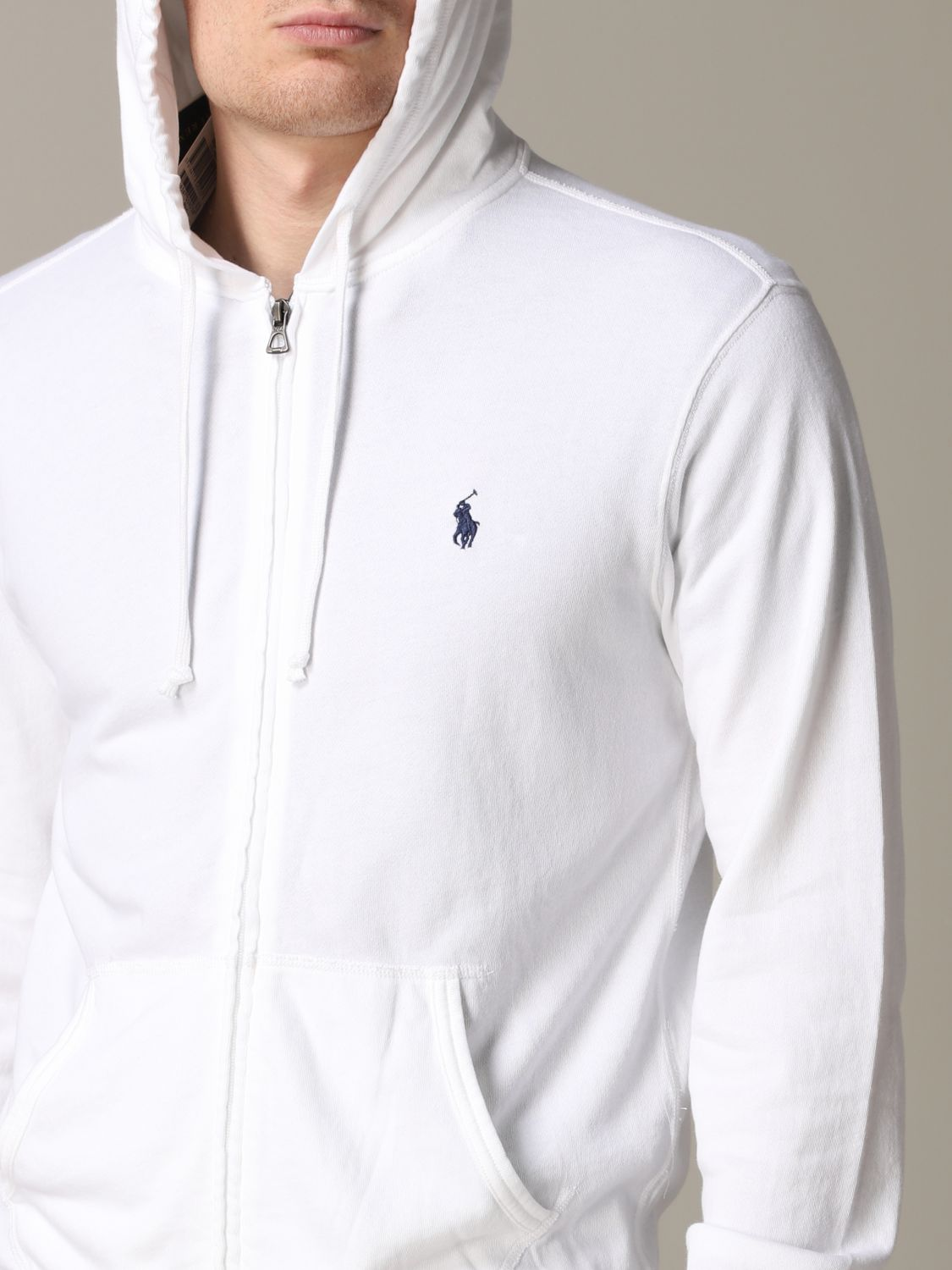 Polo Ralph Lauren sweatshirt with cotton hood white 5