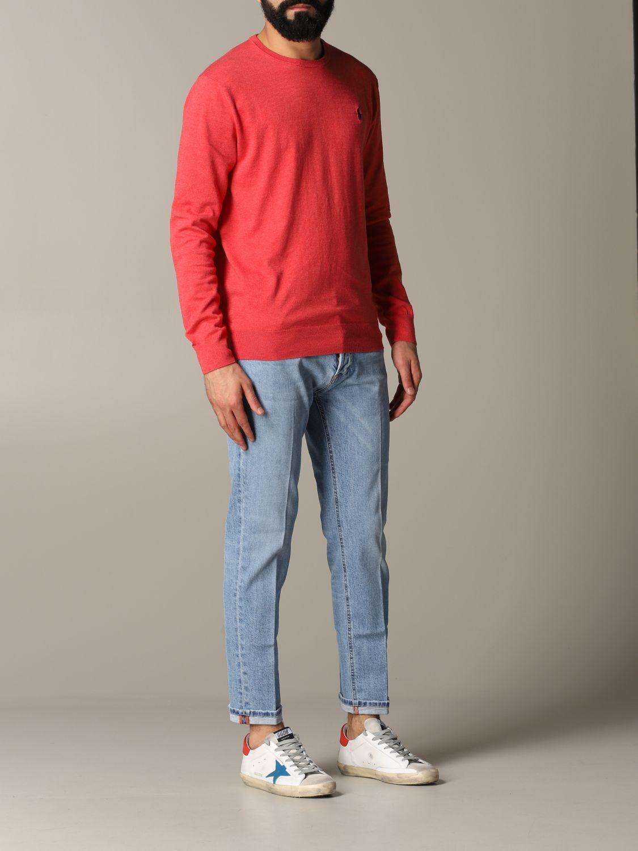 Maglia Polo Ralph Lauren: Maglia a girocollo in cotone con logo Polo Ralph Lauren ricamato vino 2