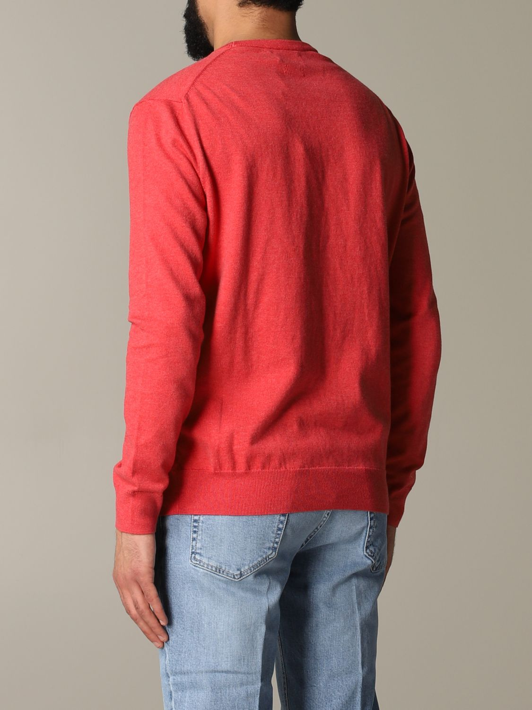Maglia Polo Ralph Lauren: Maglia a girocollo in cotone con logo Polo Ralph Lauren ricamato vino 3