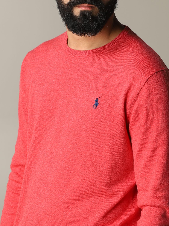 Maglia Polo Ralph Lauren: Maglia a girocollo in cotone con logo Polo Ralph Lauren ricamato vino 5
