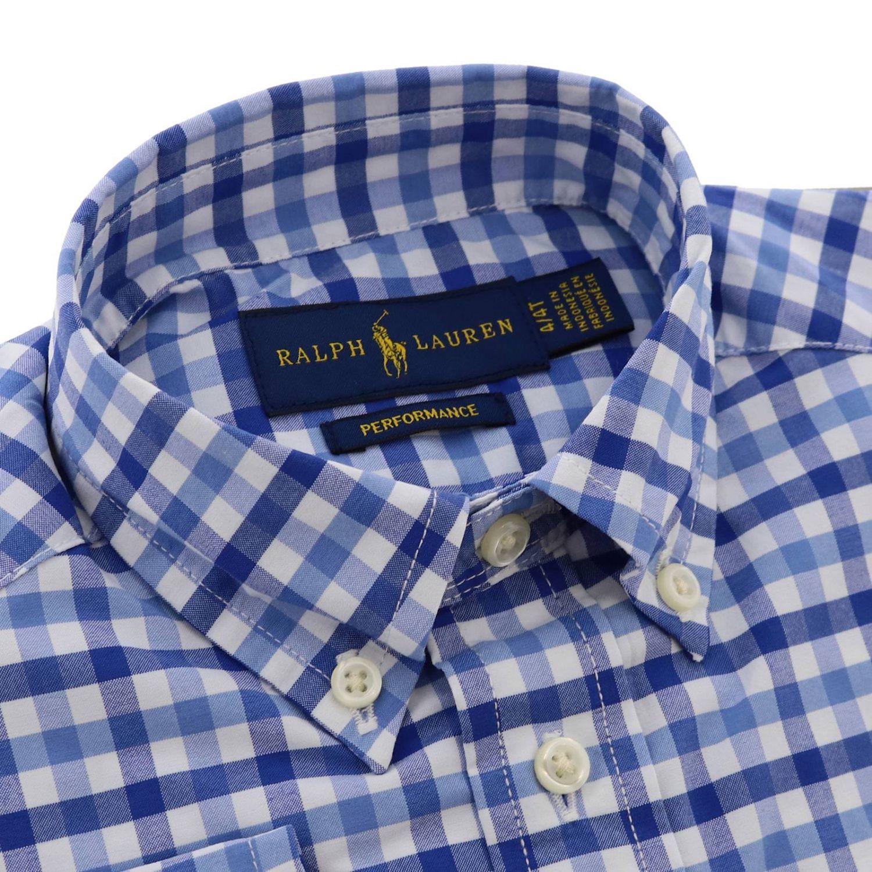 Camicia Polo Ralph Lauren Toddler con collo button down e fantasia vichy azzurro 2
