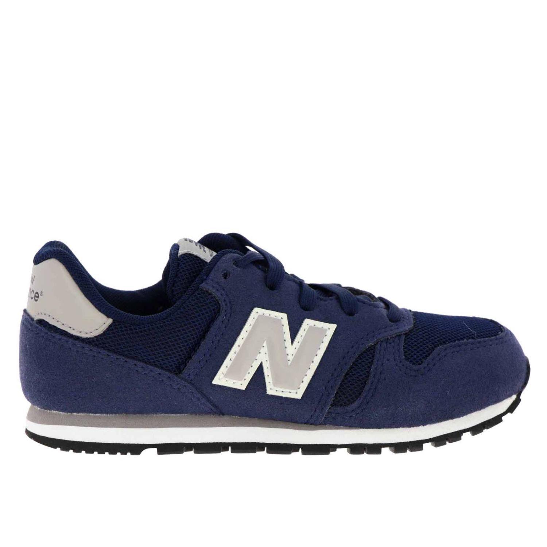 Sneakers 373 New Balance in camoscio e micro rete blue 1