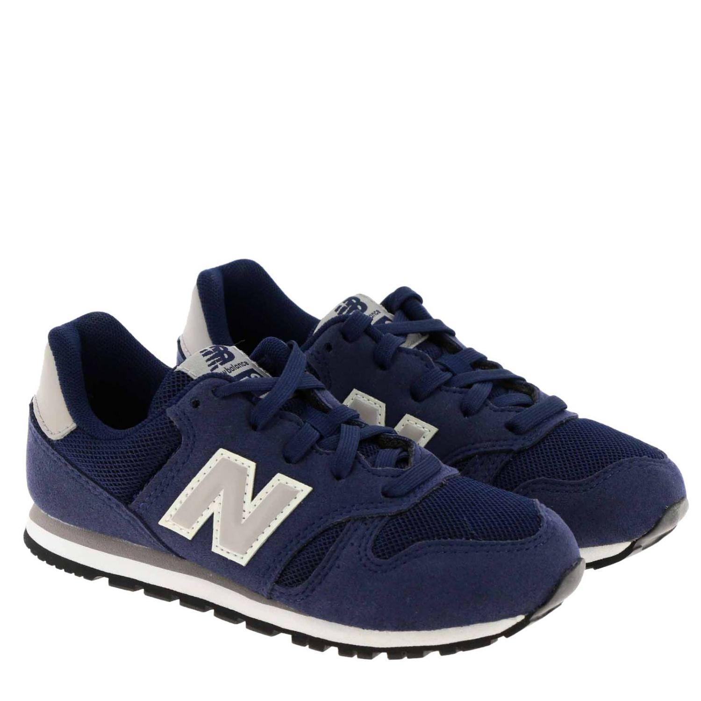 Sneakers 373 New Balance in camoscio e micro rete blue 2