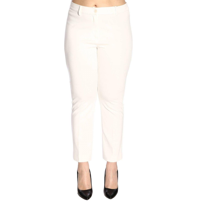 Pantalon femme Marina Rinaldi blanc 1
