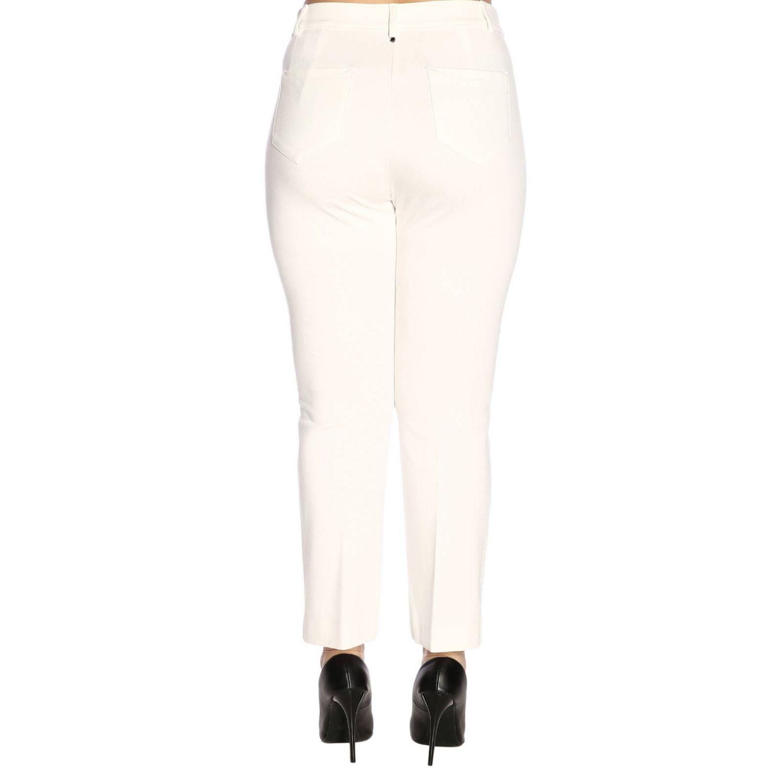 Pantalon femme Marina Rinaldi blanc 3