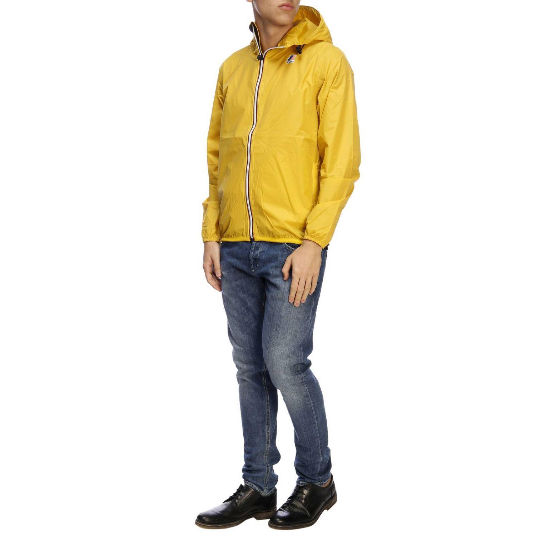 Jacket K-Way: Jacket men K-way yellow 5